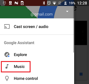 Music Option in Google Home App