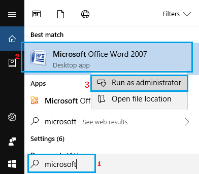 Run Microsoft Word As Administrator
