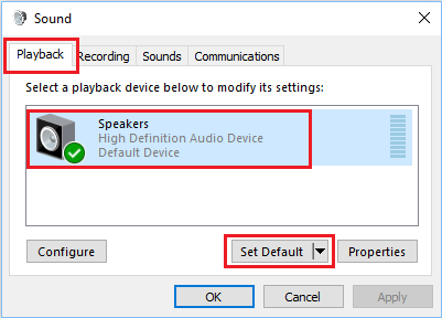 Set Default Audio Device on Windows Computer