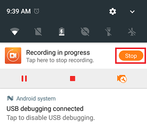 Stop Recording Option in Du Recorder App