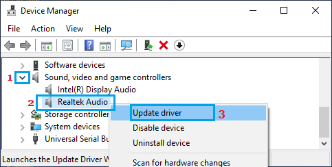 Update Audio Device Driver on Windows PC
