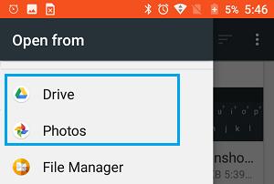 Open Photos from Photos App Option