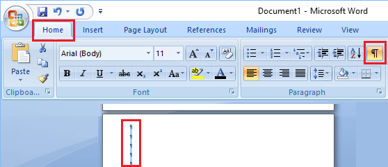 Delete Blank Page at the End of Microsoft Word Document