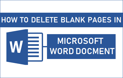 Delete Blank Pages in Microsoft Word Document