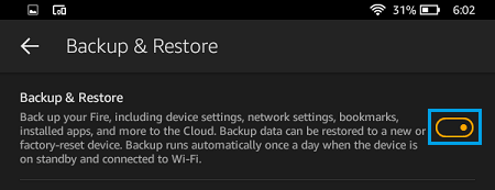 Backup and Restore Kindle Fire
