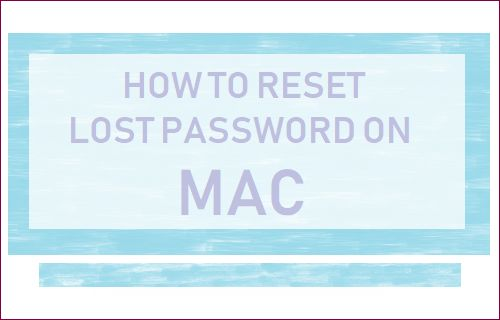 Reset Password on Mac