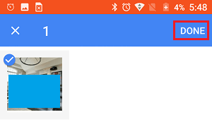 Select Photos to Send By Gmail on Android Phone