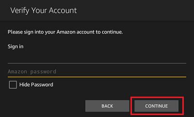 Verify Amazon Account