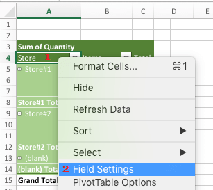 Access Field Settings to Remove Subtotals in Pivot Table
