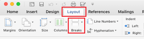 Insert Breaks in Word Document