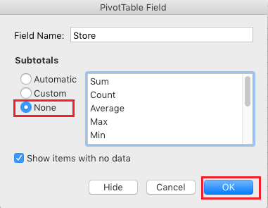 Remove Subtotals From Pivot Table