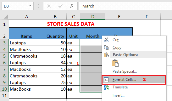 Format Hidden Cells in Excel