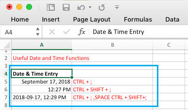 Useful Time and Date Functions in Excel