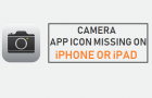 Camera App Icon Missing on iPhone or iPad
