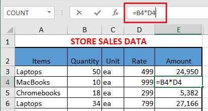 Formula Bar in Excel