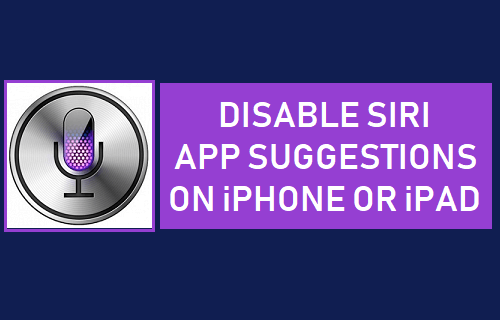 Disable Siri App Suggestions on iPhone or iPad