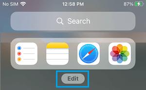 Edit Home Screen Widgets on iPhone
