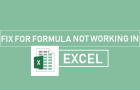 Fix For Formula Not Working in Excel