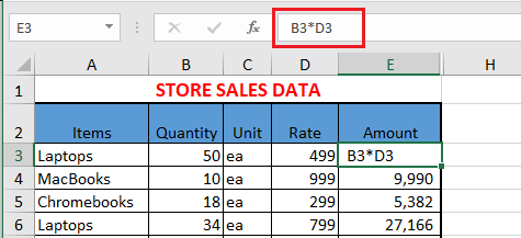 Excel Formula Without Equal Sign