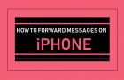 Forward Messages On iPhone