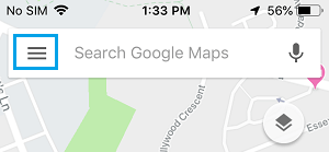 Google Maps Menu Icon