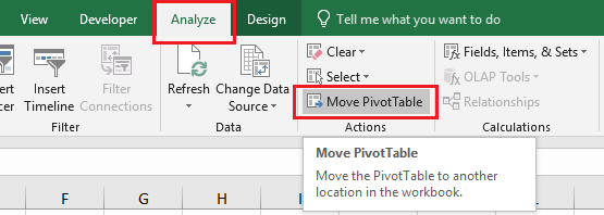 How to Move Pivot Table In Excel