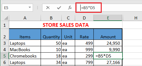 Space Before Formula In Excel