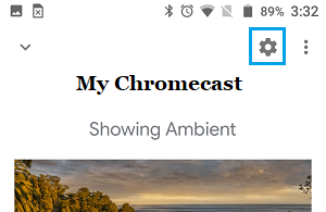 Chromecast Settings Icon