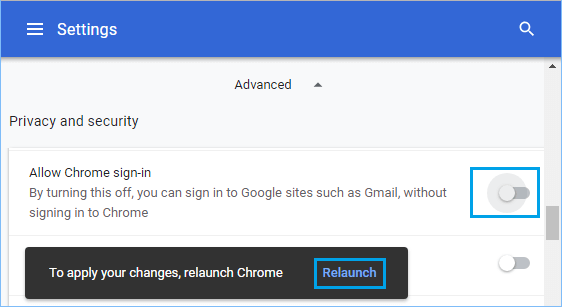 How to Disable Google Chrome Auto Sign-In