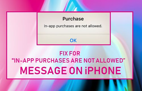 "Fix For ""In-app purchases are not allowed"" Message on iPhone"
