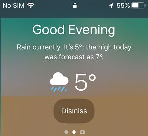 Weather Widget On iPhone Lock Screen