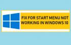 Fix For Start Menu Not Working in Windows 10