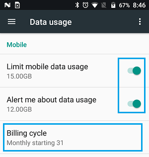 Limit Mobile Data and Set Mobile Data Usage Alert Option in Android