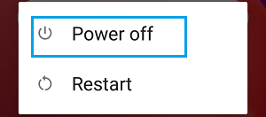 Power OFF and Restart Screen on Android Phone