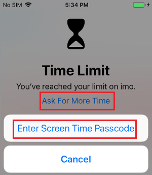 Enter Screen Time Passcode to Unlock Apps on iPhone
