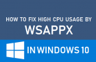 Fix High CPU Usage By WSAPPX in Windows 10