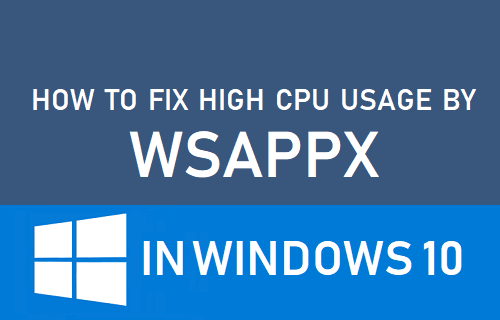 How to Fix High CPU Usage By WSAPPX in Windows 10