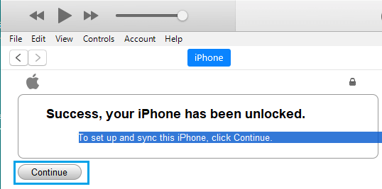 iPhone Unlocked Pop-up on Windows PC