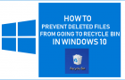 Prevent Deleted Files From Going to Recycle Bin in Windows 10