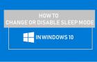 Change or Disable Sleep Mode In Windows 10