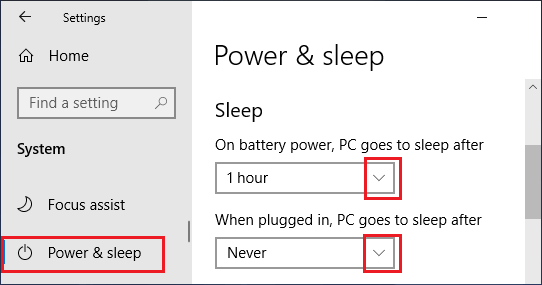 Disable Sleep Mode While Computer is Plugged In