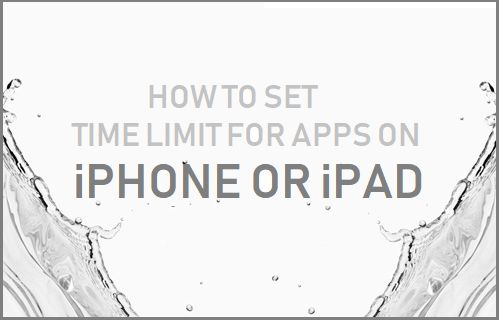 Set Time Limit For Apps on iPhone or iPad