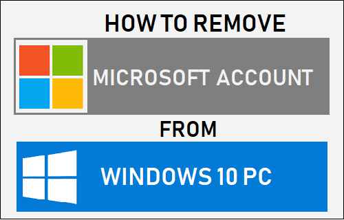 Remove Microsoft Account From Windows 10 PC