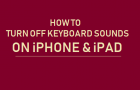 Turn OFF Keyboard Sounds on iPhone and iPad