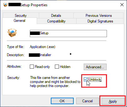 Unblock File on Windows Computer