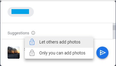 Allow or Prevent Others From Adding Photos