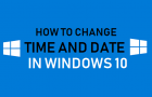 Change Time and Date in Windows 10