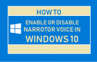 Enable or Disable Narrator Voice in Windows 10