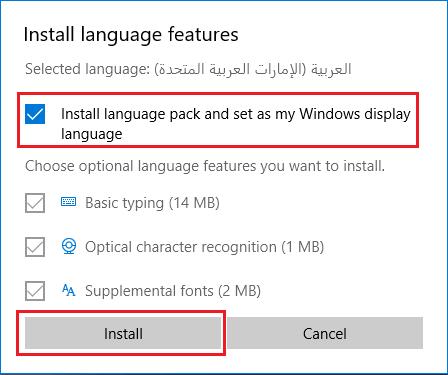 Install Language Pack On Windows 10 PC