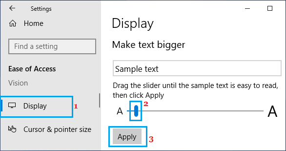 Change Text Size on Windows Computer